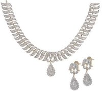 Amercian Diamond Necklace Set