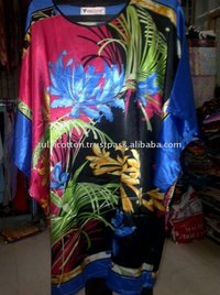 Beautiful Satin Printed Kaftan