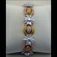 Tricolor Diamond Gold Bracelets