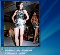 Black Mother Of Pearl Dress