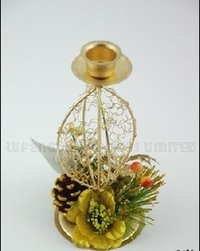Gold Color Metal Candle Holders