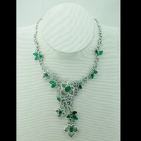 Emerals And Diamond Necklace