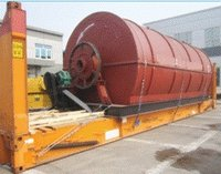 Waste Tire Plastic Rubber Recycle Pyrolysis Machine Plant
