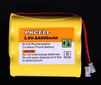 3*AAA 600mAh 3.6V NiCd Rechargeable Battery Pack