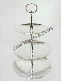 Brass 3 Plates Fruit Stand