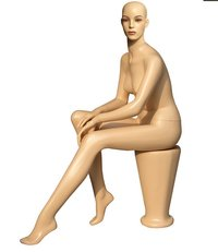 Fashion Young Models Female Sitting Mannequin (J086A)