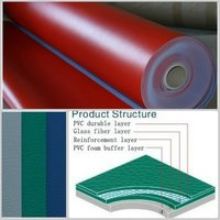 Red Pvc Flooring