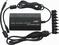 100W Universal Power Adapter USB Charger For Notebook Laptop W Car Plug