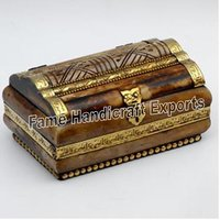 Bone Brass Jewelry Box