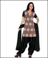 Black Embroidered Salwar Kameez