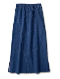 Denim Long Skirt DS2