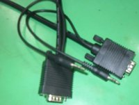 HR Pro Series VGA W/Audio HD15 Pin Plug to Plug Cable
