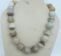 White Lace Agate Necklace