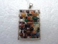 Multi Colour Stone Pendant