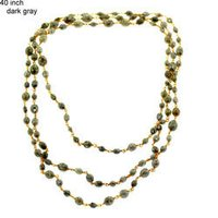Diamond Beaded Gold Necklace