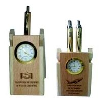 Wooden Pen Stand Clocks