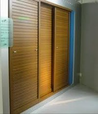 Polished Finish Sliding Shutter