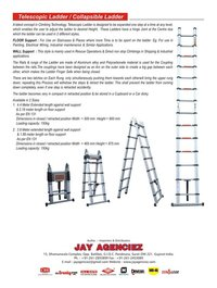 Retractable Aluminum Ladder Ce Certified