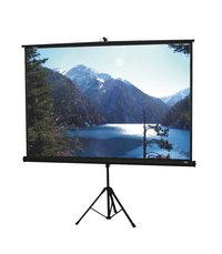 Portable Tripod Projection Screen With Glass Beaded Fabric