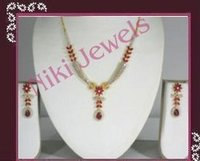 Ad And Ruby Necklace Sets
