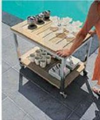 Poolside Serve Table