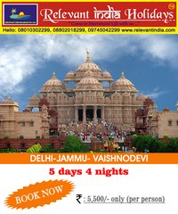 Temple-Delhi, Jammu, Vaishnodevi Tour Packages