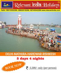 Tour Of Temple- Delhi, Mathura, Haridwar, Rishikesh