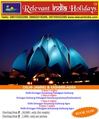 Delhi- Jammu & Kashmir- Agra Tour Packages