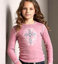 Girls Velvet T-Shirt