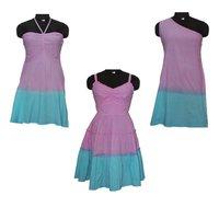 Stylish Hand Tie Dyed Dress