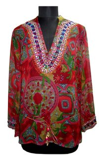 Printed Cotton Kaftan