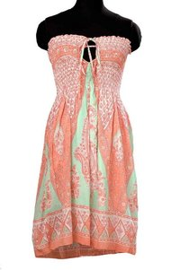 Neckless Hand Block Printed Dress