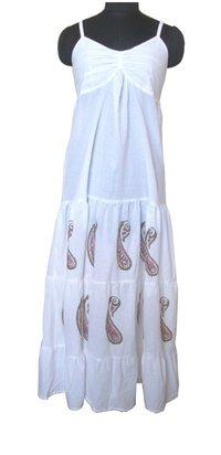 Long White Cotton Dress