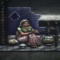 Handicrafts Paper Painting