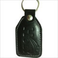 Black Leather Keyrings