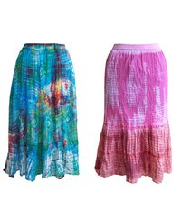 Hand Tie Dyed Cotton Skirt