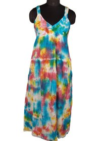 Printed Hand Tie Dyed Dress