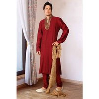 Silk Maroon Color Kurta Set