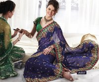 Designer Embroidery Border Sarees