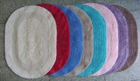 Reversible Oval Cotton Bathmat