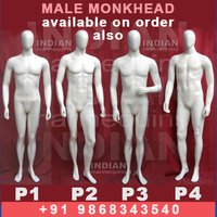 Male Monk Head Mannequins