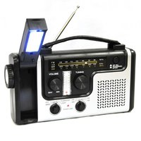 Solar Dynamo Emergency Radio w/ LED Lights Charger