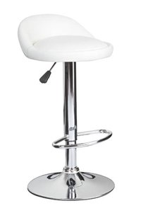 Adjustable Height Faux Leather Bar Stool