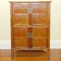 Bamboo Antique Chinese Cupboard