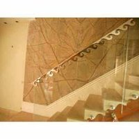 Glass Railing With Hand Railing