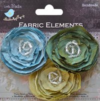 Fabric Flowers Beaded Blooms Bubble Gum (3pcs Pbci Be Lb)