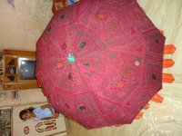 Embroideried Garden Umbrella