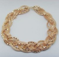 Rose Gold Braid Necklace