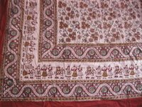 Bagru Kalamkari Print Bed Sheets