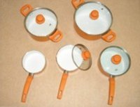 Press Aluminium Cookware Set With Spray In Inside And Outside